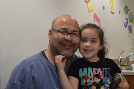 Daniel Chavez and daughter, Davida